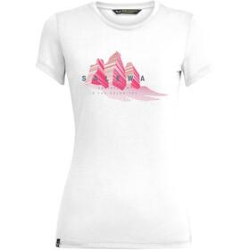 SALEWA Lines Graphic Dry T-Shirt Women, blanco
